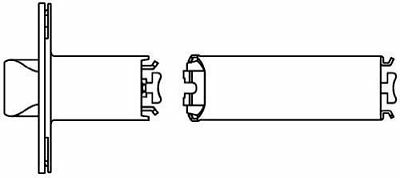 Schlage 41-005 5 Backset Extension Link for 2 3/8 Backset Latches, N/A by Lock