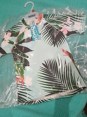 Bonds Baby Swim top Aloha Mint size 5 NWT