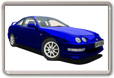 FRIDGE MAGNET -  HONDA INTEGRA TYPE R GRAPHIC CAR ART -  Large