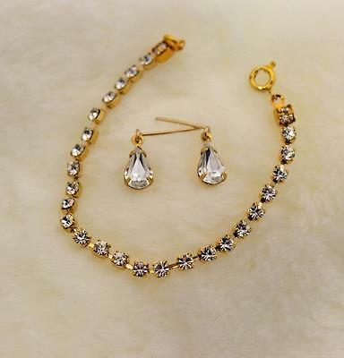 "NEW Clear Rhinestone Jewelry Set Necklace Earrings for Cissy 18-22"" Revlon Doll"
