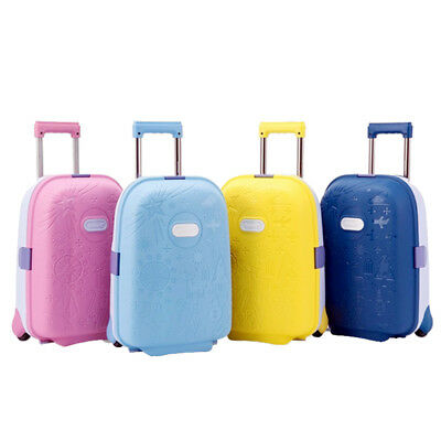 "Luggage Travel Suitcase Trolley Cabin Kids 17"" Lightweight Lock Hard Shell 1.7Kg"