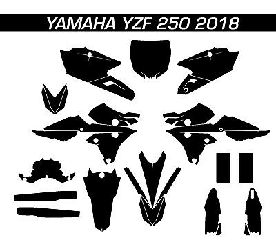 YAMAHA YZF 250 2018 Graphic Vector Template // Gabarit template nouveau/new