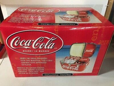 Coca-Cola Ice Chest With CD Player Inside NIB