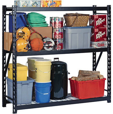 Extra Wide Shelving Unit Shed Large Storage Coated Wire Shelf Long Free Standing
