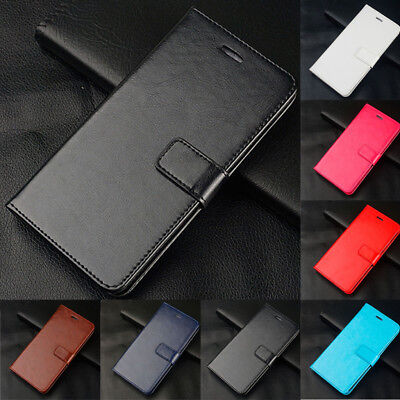 Luxury Leather Magnetic Flip Card Wallet Phone Case Cover For Huawei P8 P9 P10