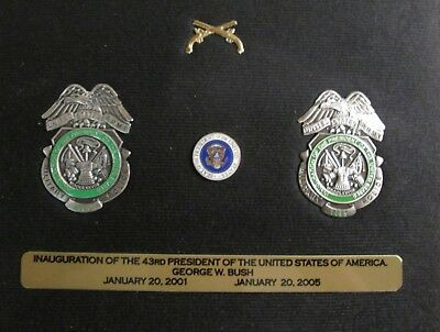Obsolete 2001 & 2005 US Army MP Presidential Inaugural Commemorative