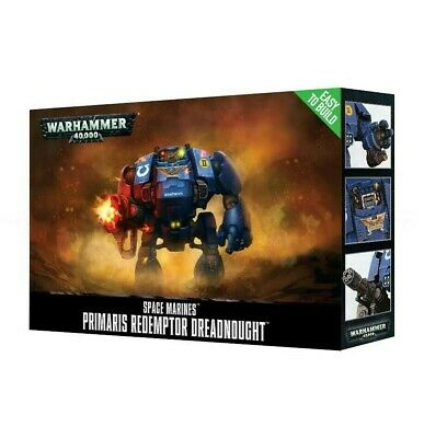 Easy To Build Space Marines Primaris Redemptor Dreadnought Games Workshop New