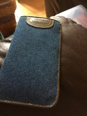 Longaberger Denim Eyeglass Case NEW