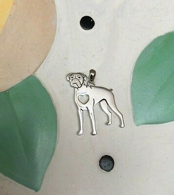 Boxer Sterling Silver Charm - New - FREE SHIPPING