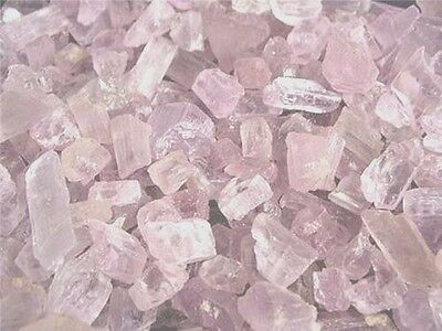 Kunzite crystal mixed grade Afghanistan lite pink 1/2 ounce lots 6-12 pieces