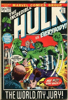 Incredible Hulk #153 - VG/FN