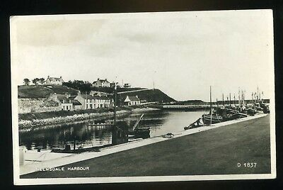 HELMSDALE  The Harbour with Fishing Boats and Village Houses  RP