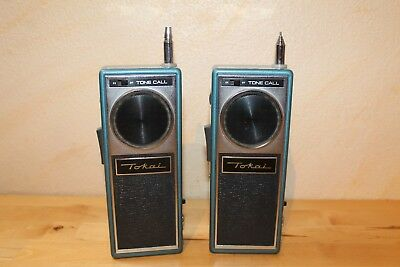 2x Tokai Funksprecher, TC 512 G, Transistor Transceiver, Walki Talki, Antik
