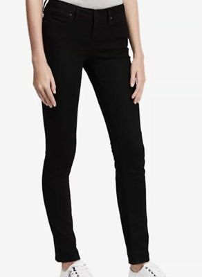 NWT Ladies' Calvin Klein Ultimate Skinny Low Rise Jeans Black 010 Select Size