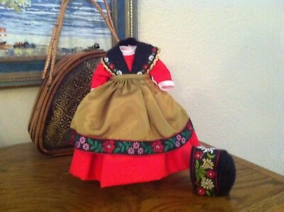 Original Vintage Red Dress 4ps set  for your  Madame Alexander doll 8""