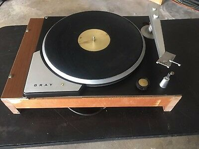 Gray 33-H Turntable W Gray A Tonearm Working Grt Condition