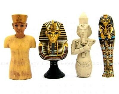 Egypt King Tut Statue Tomb Ancient Replica Toy Set Collection Mini Bust Gift
