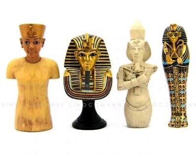 Mummy Egypt King Tut Statue Tomb Ancient Replica Toy Set Collection Bust Gift