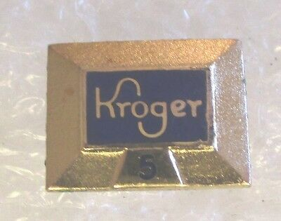 Vintage Kroger Company 5 Year Employee Service Award Pin Gold-Filled