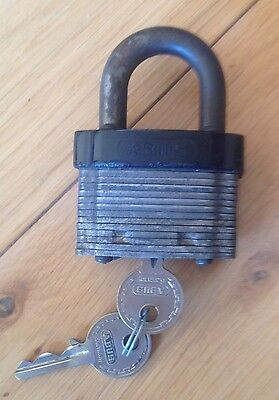 Vintage Abus No.41 Padlock & Key Made In Germany 2 Keys