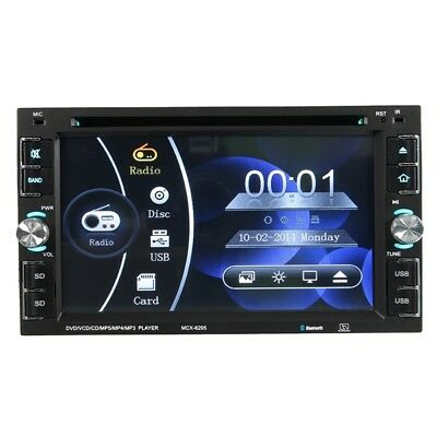 YT-6205 6.2 inch 2 DIN Car Stereo DVD MP3 Player FM Radio Touch Screen HD  Blue