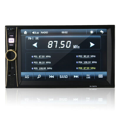 6.6 Inch 2 DIN Bluetooth Car Stereo MP5 Player FM Touch Screen Mirror Link Rear
