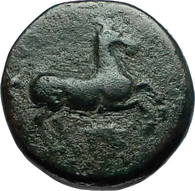 MARONEIA Thrace 400BC Authentic Ancient Greek Coin w HORSE & WINE GRAPES i66272