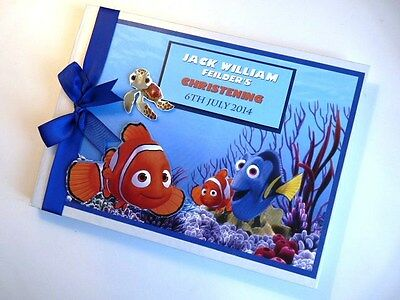 Personalised Finding Nemo Boy/girl /first/1St Birthday Guest Book Any Design
