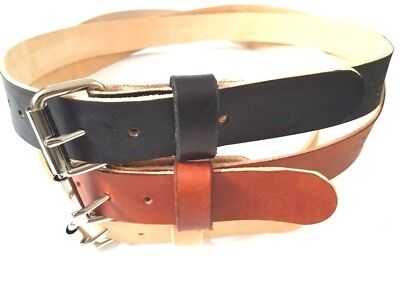 """11/4""""w Children Real Leather Belt 3 Mm Thick With Solid Steel Roller Buckle"""