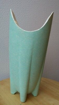 "Touche' by Shawnee Pottery Zanesville Ohio Vintage 9"" Green Rocket Vase #1023"