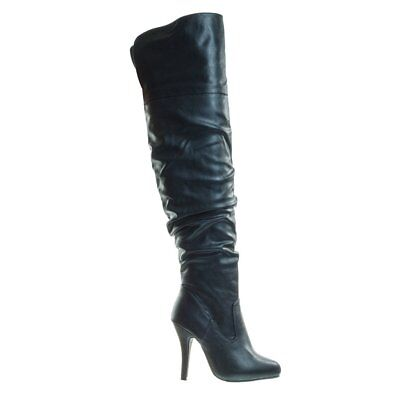 Women's Fashion Stylish Pull On Over Knee High Sexy Boots Forever Link Focus-33