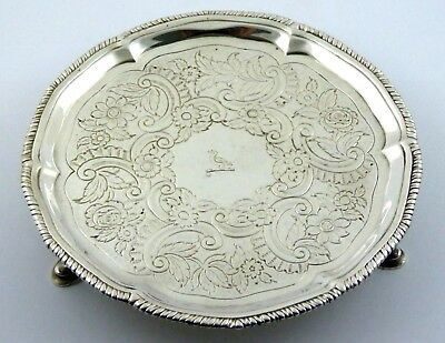 244 Year old Superb  1774 Antique Solid Sterling Silver Dish The Devenish Coat