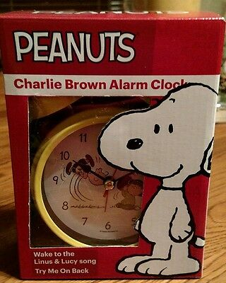 Peanuts Charlie Brown Alarm Clock Wake To Linus & Lucy Song *FREE SHIPPING*