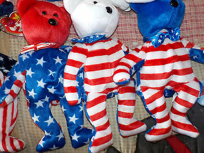 set of 3 liberty bears from TY Beanie Babies