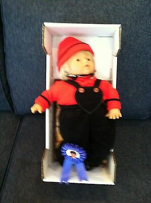 Manfred By Lissi Batz Doll Signed 16in. Vinyl 1993 made in Germany with COA
