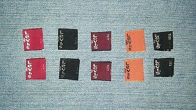 10 pcs New Levis Levi Strauss Tab Label Collection Maroon Black Red Orange Gray