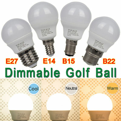 4.5W E14 B22 E27 B15 Bombilla LED de luz LED Regulable Cool Neutral Warm White