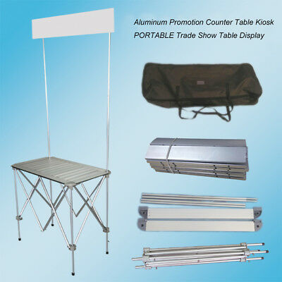 Portable Tradeshow Display Table Counter Booth Promotion Kiosk Banner Stand New