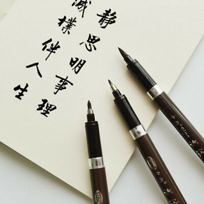 3Pcs Chinese Pen Japanese Calligraphy Writing Art Script Painting Tool Brush Set
