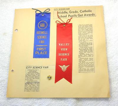 1968 Roswell Science Fair Pin And Ribbons, Authentic!!!