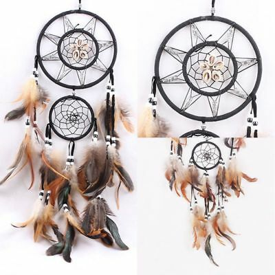 Retro Double Ring Large Dream Catcher With Shell Handmade Crafts Car Room Decors
