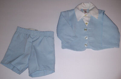 Vintage SEARS Perma-Prest 2 Pc Polyester Infant Baby Boy Outfit Size Small