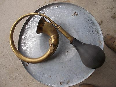 Antique Automobile Brass Car WORK Horn Rubber Bulb Taxi Bicycle Bike Early 1900s