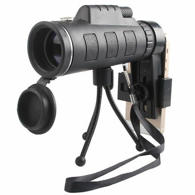 40X60 Monocular Telescope Zoom Optical Day Night Vision With Phone Clip Tripod
