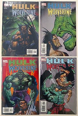 Hulk Wolverine - Six Hours 1-4 (Marvel 2003) Full Set