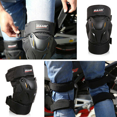 Motorcycle Motocross Hinged Knee Shin Pads Guard Protective Gear Body Armour new