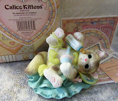 Calico Kittens ~ As Innocent as a Kitten ~ ADORABLE Cat Kitty Figurine