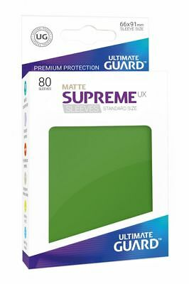 Ultimate Guard - Supreme UX Sleeves Standard Mat Green 80 Pieces Card Sleeves