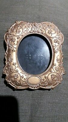Vintage Gold Painted Picture Frame With Intricate Scrollwork!