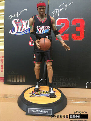 e265460dc98e 1 6 Scale Real Masterpiece NBA Collection - Allen Iverson Action Figure In  Box